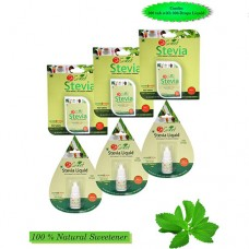 So Sweet Stevia Combo of 500 Stevia Tablets and Pack of 3 Liquid Drops