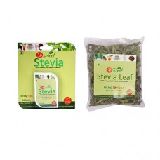 So Sweet Stevia Combo of 100 Stevia Tablets and Stevia 25 gm Leaf Pack