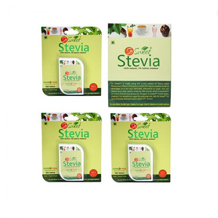 So Sweet 300 Stevia Tablets and 50 Sachets Natural Sweeteners