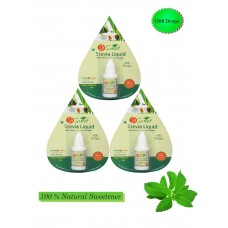 So Sweet Stevia Liquid - Pack of 3-1200 Drops - Natural Sweetner 100% Natural Sweetener - Sugarfree