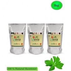 So Sweet Stevia Powder 1 kg - Sugarfree Sweetener (Pack of 3)
